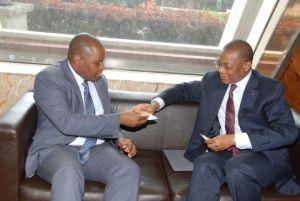 Le Ministre Koné Nabagné avec le Commissaire de la CEDEAO chargé des TIC